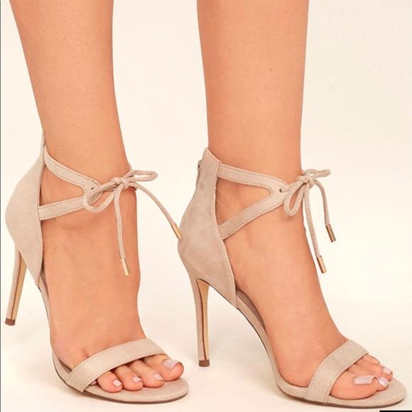 6314b73acd Lulu s Shoes - LULUS Kate Nude Suede Ankle Strap Heels
